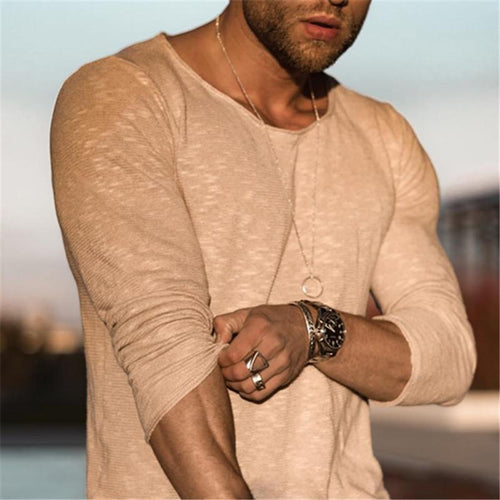 Autumn Men's Slim Cotton T-Shirt
