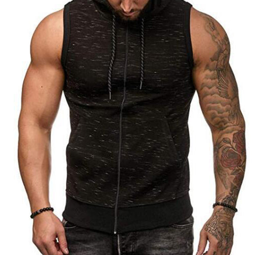 New Men's Sleeveless Vest Cardigan Vests