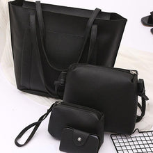 Load image into Gallery viewer, Four Pieces Plain Pu Shoulder Bags