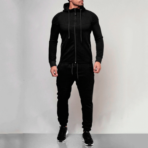Men's Outdoor Sports And Leisure Sweater Solid Color Suit