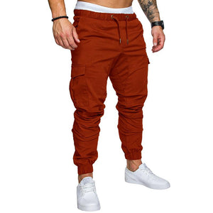 Men's Solid Color Tether Elastic Sports Pants