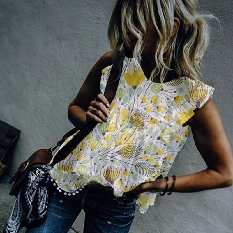 Round Neck  Beading  Floral  Blouses