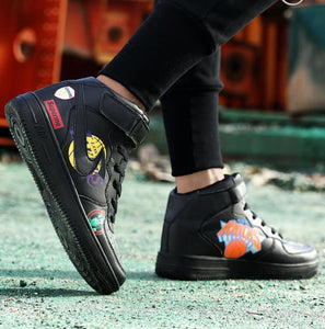 Autumn Trend Casual Graffiti Shoes High-Top Sneakers