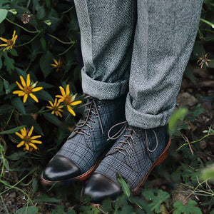 British Plaid Casual Martin Boots