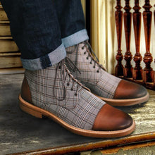 Load image into Gallery viewer, British Plaid Casual Martin Boots