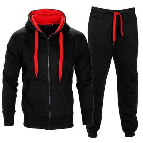 Casual Slim Solid Color Hip Hop Set
