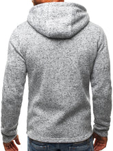 Load image into Gallery viewer, Men's Sports And Leisure Jacquard Sweater Fleece Cardigan Hooded Jacket