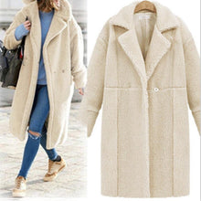Load image into Gallery viewer, Cashmere Long Sleeve Long Style Coat