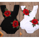 Newborn Baby Girls Sleeveless Floral Jumpsuit - Baby needs & Co.
