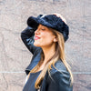 Faux Fur Baseball Hat in Black
