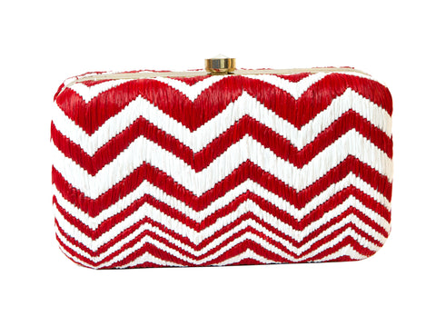 Chevron Clutch- Red