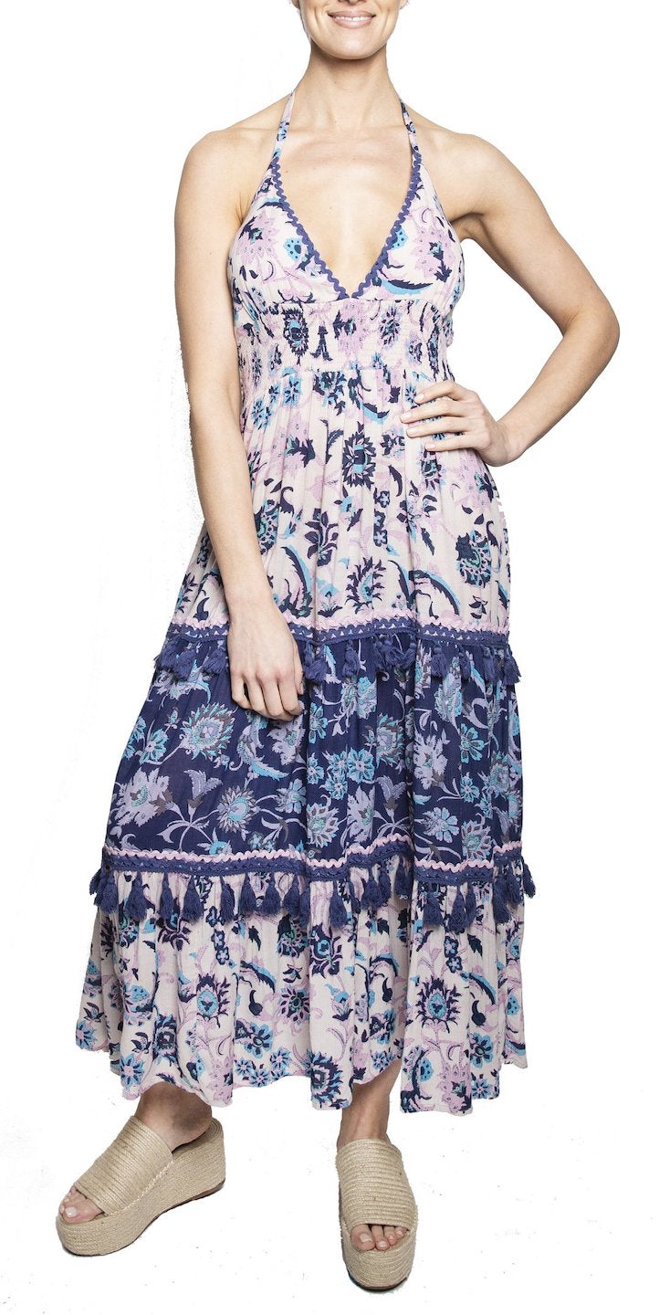 Riviera V-Neck Maxi Dress