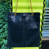Vanderbilt Tote Shoulder Bag in Black Leather