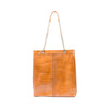 Vanderbilt Tote Shoulder Bag in Croc Honey Leather