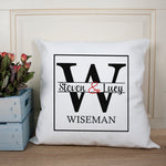 Couple Monogram Cushion Cover