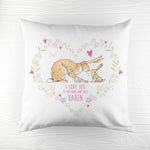 Personalised Guess How Much I Love You Heart Wreath Cushion Cover