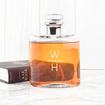 Premium Monogrammed Platinum Necked Whiskey Decanter