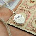 Ornate Personalised Oval Locket