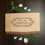 Personalised Wedding Date Rustic Welsh Ash Serving Board