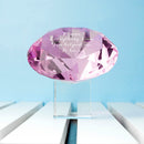 Personalised Pink Diamond Paperweight