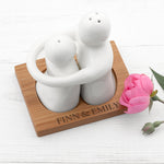 Personalised Hugging Salt and Pepper Set