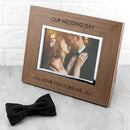 Contemporary Walnut Engraved Photo Frame