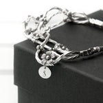 Fine Silver Forget Me Knot Personalised Bracelet