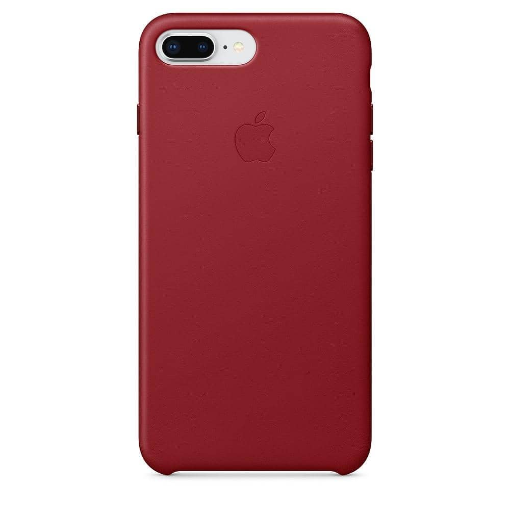 Coque en cuir iPhone 8 Plus Rouge