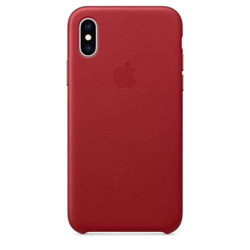Coque en cuir iPhone X Rouge