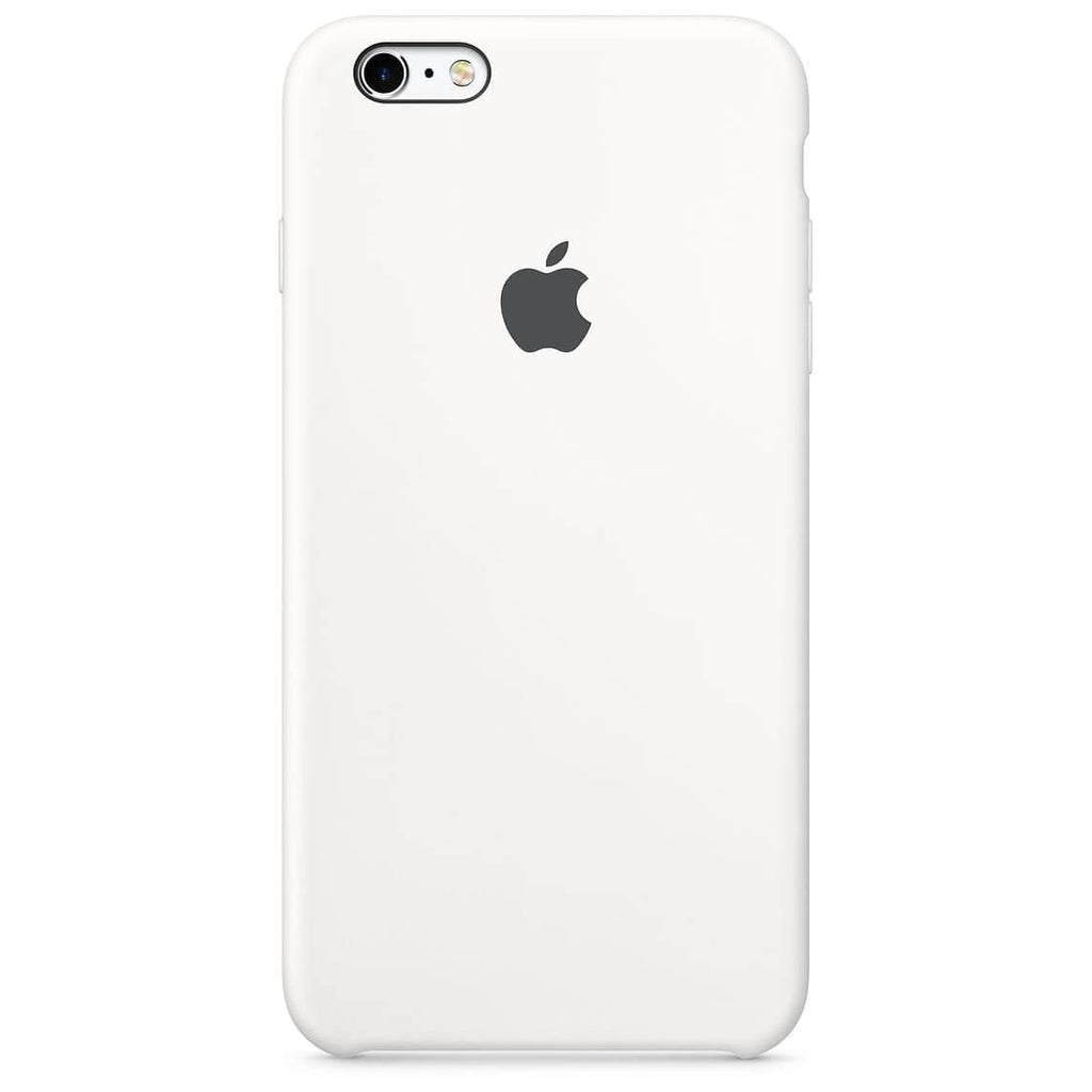 Coque silicone iPhone 6S Blanc