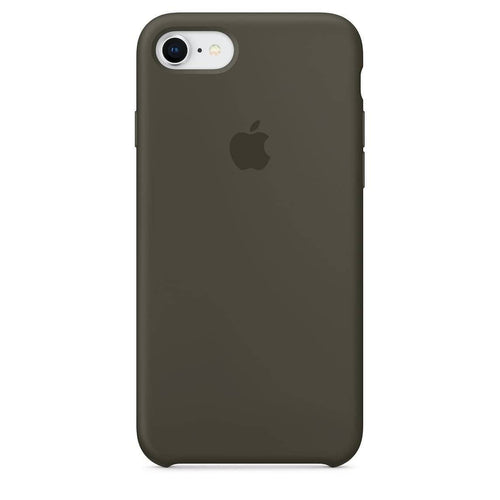 Coque silicone iPhone 7 Plus Gris olive