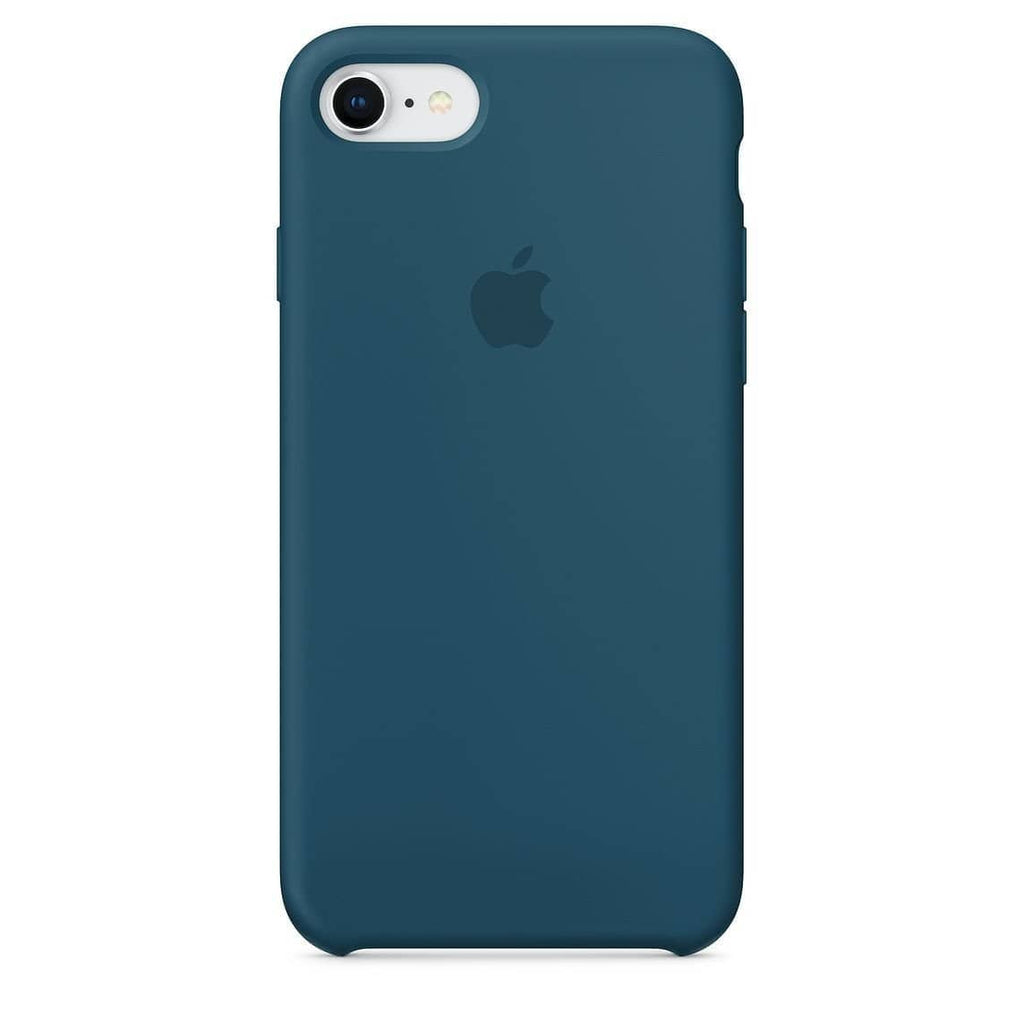 Coque silicone iPhone 8 Plus Bleu cosmos