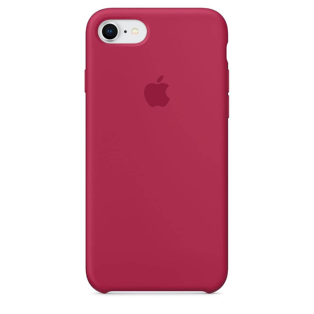 Coque silicone iPhone 8 Rose rouge