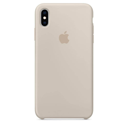 Coque silicone iPhone X Blanc rock
