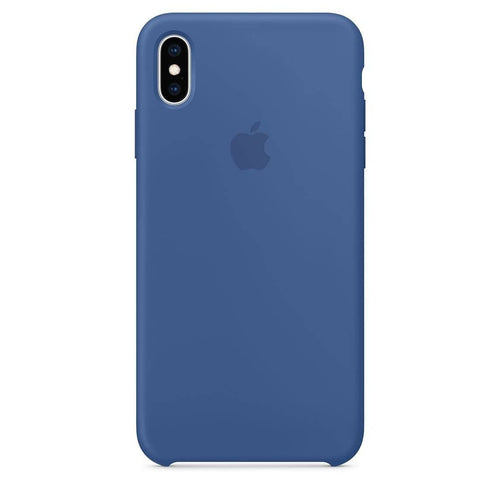 Coque silicone iPhone X  Bleu de Delft