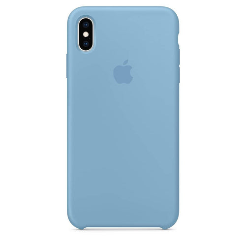 Coque silicone iPhone X Bleuet