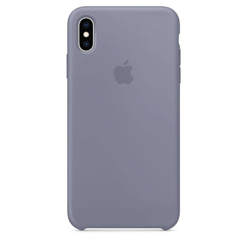 Coque silicone iPhone X Gris lavande