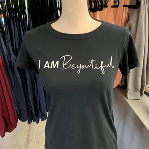"Women's ""I am BeYOUtiful"" Black Tee"