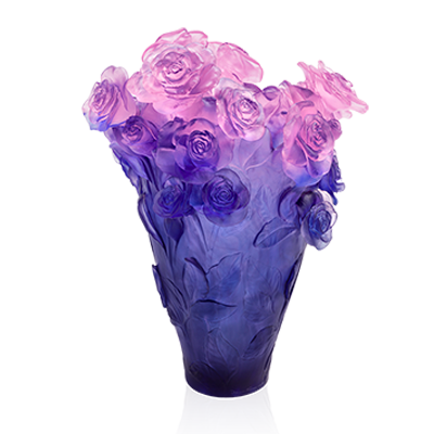 Rose Passion Pink and Blue Magnum Vase