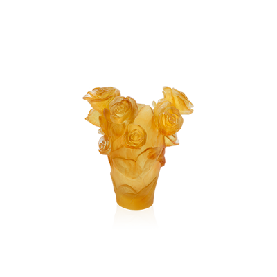 Rose Passion Small Yellow Vase