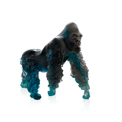 Silverback Gorilla in Blue Grey by Jean-No
