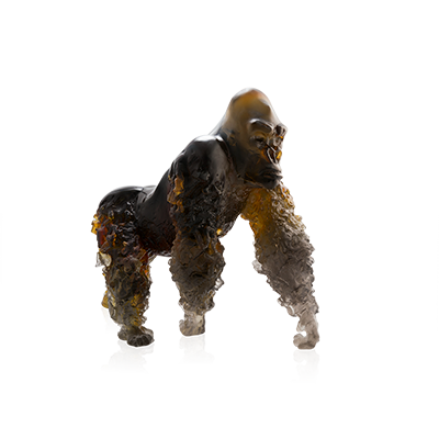 Silverback Gorilla in Amber Grey by Jean-No