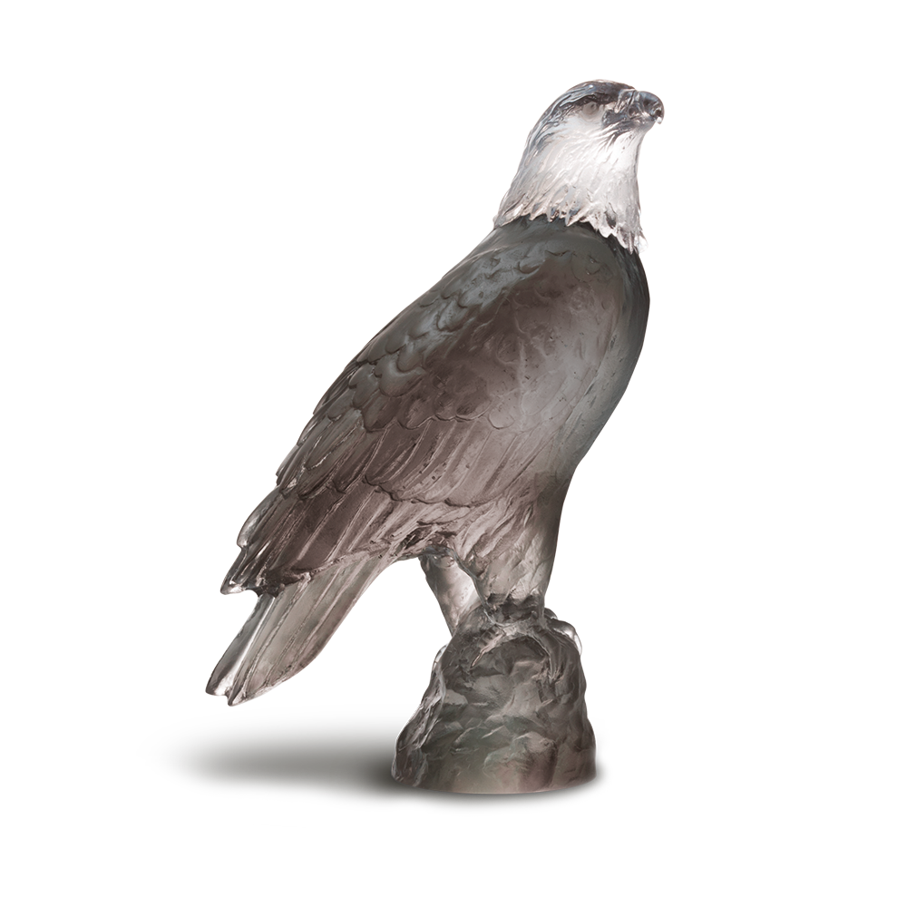 Small Eagle in Grey | Daum USA Crystal & Glass