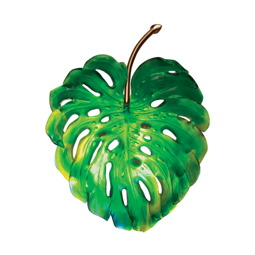 Small green wall lamp Monstera by Emilio Robba