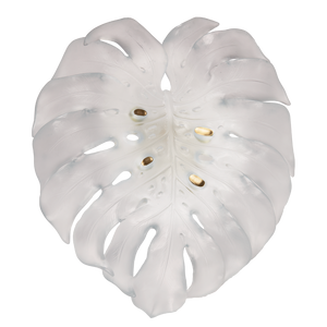 Large Short-Fixture Monstera Wall Lamp in White by Emilio Robba
