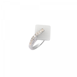 White crystal Ring  Eclipse