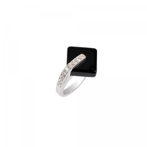 Black crystal Ring  Eclipse