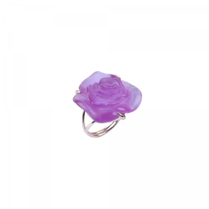 Ultraviolet crystal silver Ring Rose Passion Jewelry