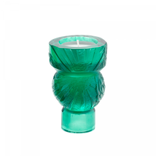 Load image into Gallery viewer, Green Candle Holder Empreinte