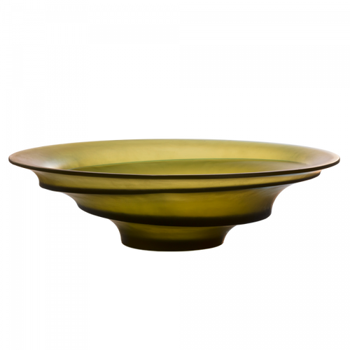 Sand Centerpiece in Olive Green by Christian Ghion 225 ex
